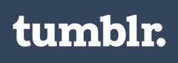 Tumblr logotype white blue 512